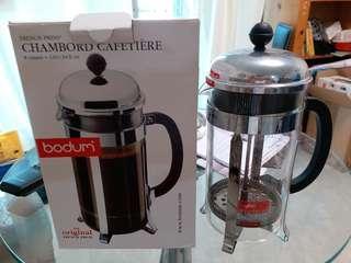 不銹鋼玻璃咖啡或茶壺