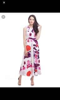 The closet lover sunset maxi dress in L