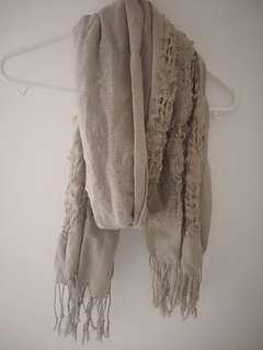 Women's brown beige scarf