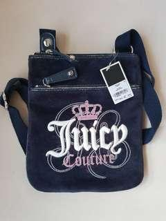 Authentic Juicy Couture Sling Bag In Navy