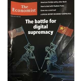 The Economist: Battle for digital supremacy, American foreign policy, putin, coral reef, energy geopolitics