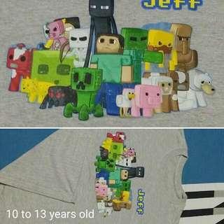 Minecraft Gray Shirt