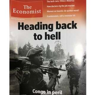 The Economist: Congo, heading back to hell, China v America, Frankenstein, women on boards