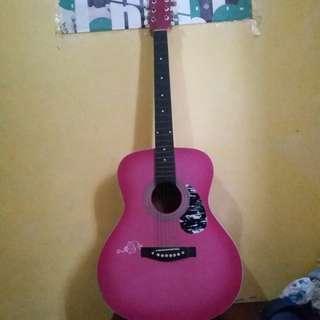 Lumanog Pink Guitar