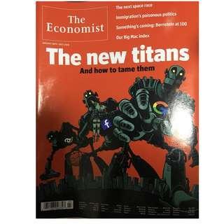 The Economist: the new Titans, Facebook, Google, space race, Big Mac Index, immigration