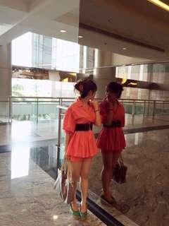 Kimono orange top