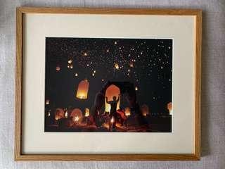 Lantern photo - framed