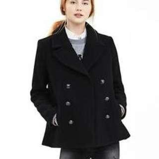 BNWT BR Black Swing Peacoat Medium