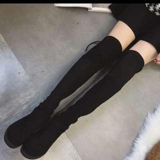 🚚 過膝彈力長靴36號(跟高3cm)