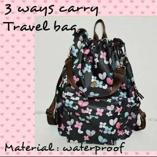 Handmade 3 Ways Carry Travel Bag
