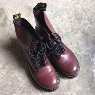 🚚 Dr.martens八孔櫻桃紅馬汀靴正品
