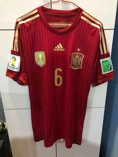 Spain 2014 Authentic Andres Iniesta Jersey - Player's Edition