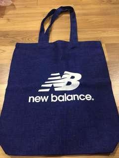 New balance canvas tote bag
