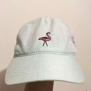light blue mint green flamingo cap hat