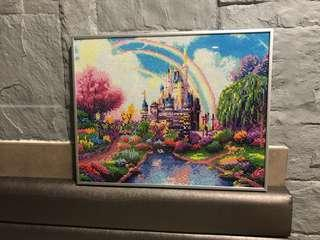 Ready made diamond art painting - colorful castle