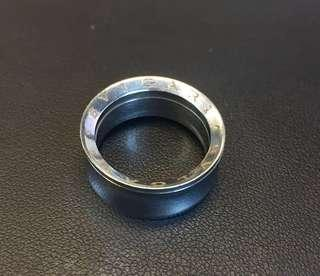 Bvlgari stainless steel ring - size L