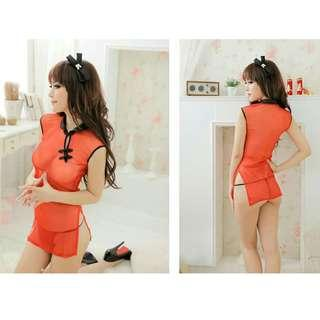 SL028 Sexy Chinese Cheungsam Costume Roleplay Cosplay Lingerie