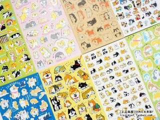 (PO) #67 & 68 Japan Shiba Inu Doge DIY Sticker Decorations (13 pcs bundle/1 pc)