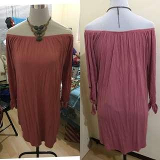 Cotton on pink off shoulder dress