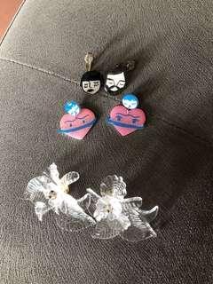 3 earrings for 100K