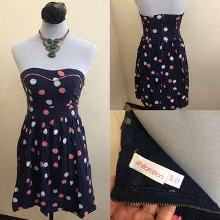 Tube dress polka