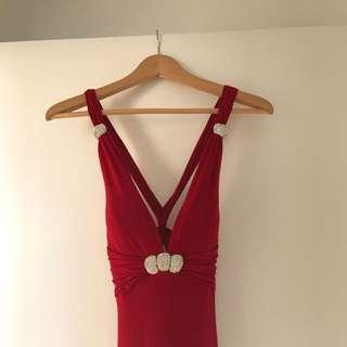 New🌺AU8 Backless Red Evening Gown