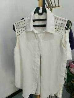 studded sleeveless top