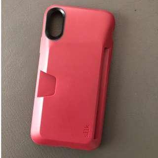 Silk Vault Wallet Case for iPhone X (Dark Red?)