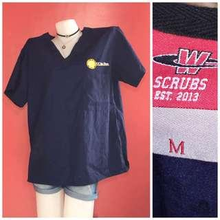 scrub suits (navy blue) top
