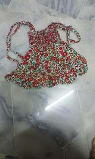 Dress - strap/sleeveless floral print