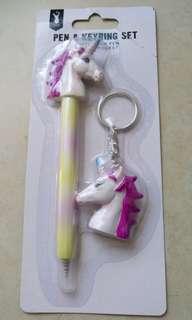 《款項捐贈泰山公德會》Typo Unicorn Pen & Key Chain獨角獸原子筆匙扣套裝