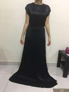 MNG satin bareback elegant dress