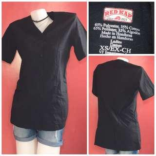 scrub suits top only black