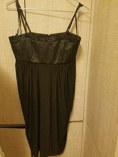 全新黑色晚裝裙