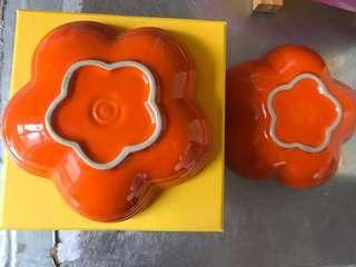 Le Creuset 小橙花pair