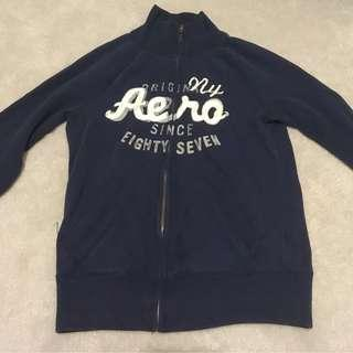 vintage aeropostale zip sweater dark navy blue