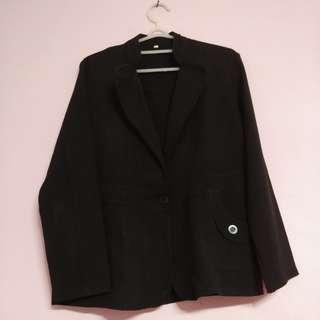 Blezer bledzer jas wanita hitam kantoran big size