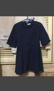深藍色娃娃裙