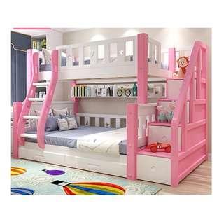 實木床 彩色 碌架床 松木床 雙層床 兒童床 子母床 單層床 雙層床 可訂造 租房 劏房 公屋 居屋 私樓 181008