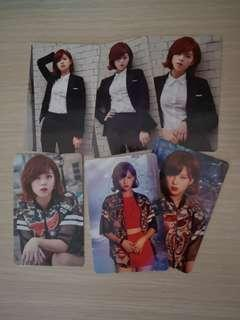 Twice jeongyeon fanmeeeting official card