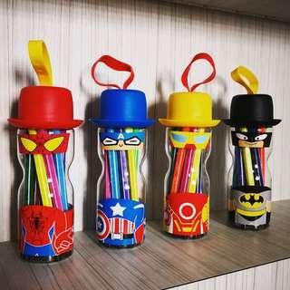 Superheroes 12 Piece Marker set/ Door gift / Goodie bag /