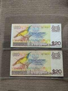 Sg $20 Birds 2 pieces lot