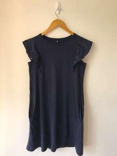 ❤️ Navy long top dress 👗 深藍色 長身衫 連身裙