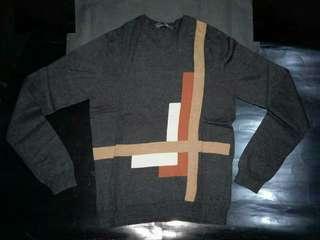 名牌BANANA REPUBLIC 男裝灰色幾何圖案針織衫