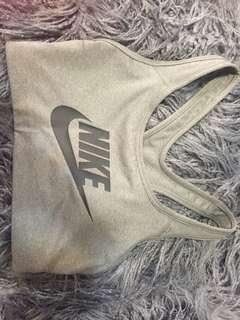 grey nike dri fit sports bra XS
