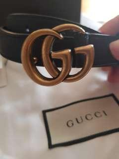 Gucci authentic belt double g buckle authentic with receipt brand new size 85