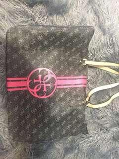 guess handbag black and pink