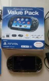 (BACA DESKRIPSI SEBELUM BELI)PS VITA PCH-1000 Series 3G/Wifi Japan (English Setting) Free Hardcase, Clear Case, and Memory