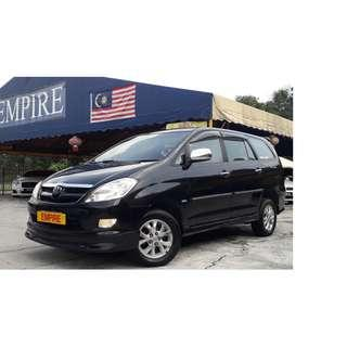 TOYOTA INNOVA 2.0G ( A ) VVT-I NEW FACELIFT !! COMES WITH FULL BODYKIT !! 7 SEATER SUV !! PREMIUM HIGH SPECS !! ( WXX 8388 ) 1 CAREFUL OWNER !!