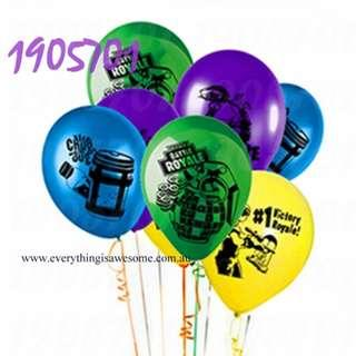 New 10 pcs Fortnite Blue Green Yellow Purple Black and Silver Balloons
